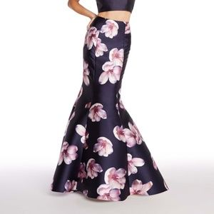Alyce Paris Navy Floral Mermaid Formal Prom Skirt